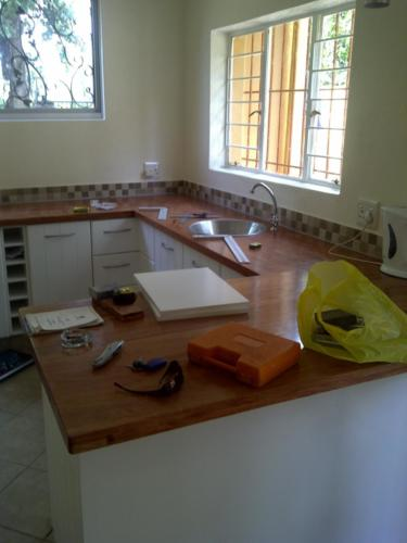 kitchen solid wood counter